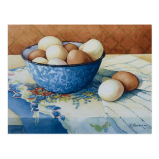 6293 Eggs in Enamelware Bowl Postcard