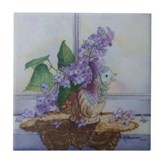 6298 Lilacs in Bird Vase Tile