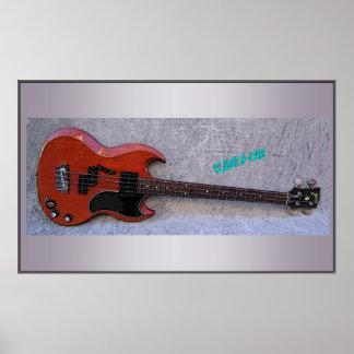 '62 Gibson EB-0 Print