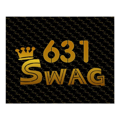 631 Area Code Swag Poster