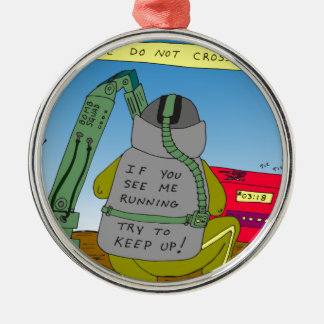 632 bomb squad run cartoon metal ornament