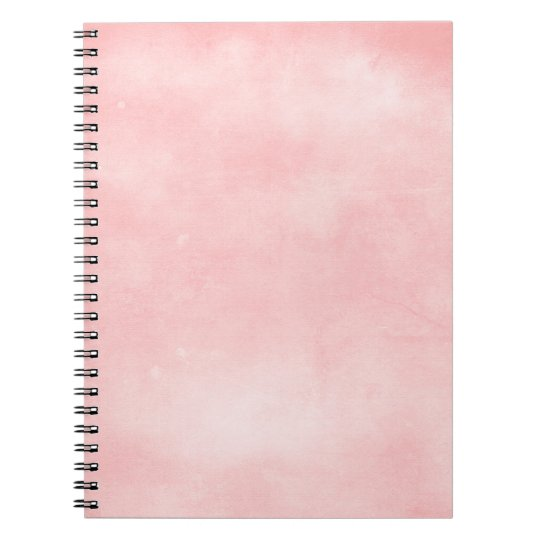 6358_solid-paper-pink- PINK COTTONCANDY PUFFY BACK Spiral Notebook