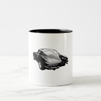 '63 Corvette split-window Two-Tone Coffee Mug
