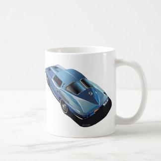 63_Split Window_Blue Basic White Mug