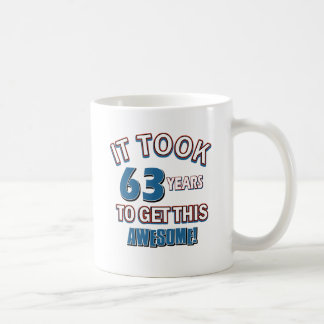 63 year old birthday designs coffee mug