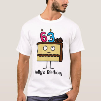 63rd Birthday Cake with Candles T-Shirt