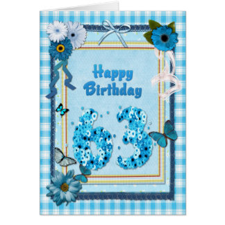 63rd Birthday with a scrapbook effect Card