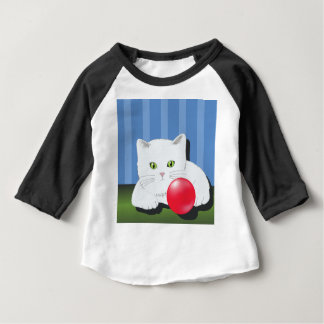 63White Cat_rasterized Baby T-Shirt