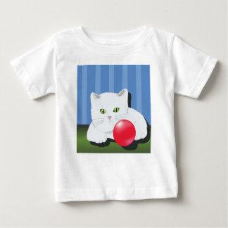 63White Cat_rasterized Baby T-Shirt