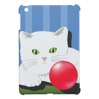 63White Cat_rasterized iPad Mini Case