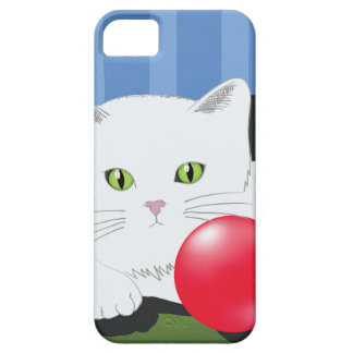 63White Cat_rasterized iPhone 5 Cases