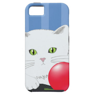 63White Cat_rasterized iPhone 5 Cover