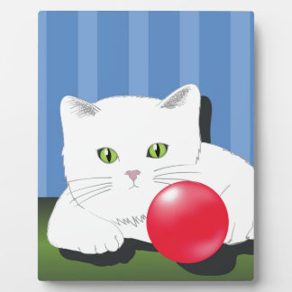 63White Cat_rasterized Plaque
