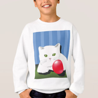 63White Cat_rasterized Sweatshirt