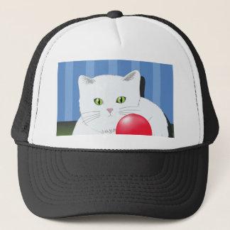63White Cat_rasterized Trucker Hat