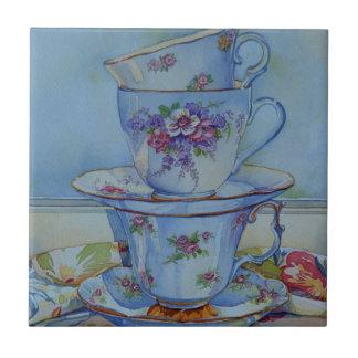 6487 Floral Teacups Tile