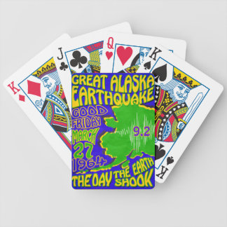 64 ALASKA EARTHQUAKE ~ RETRO POSTER PLAYING CARDS