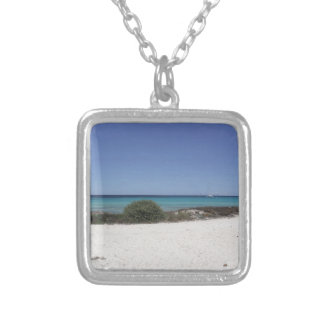 64-SOL16-173-3271 SILVER PLATED NECKLACE