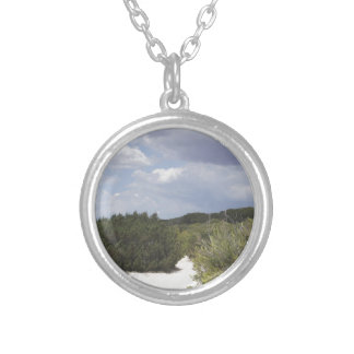 64-SOL16-181-3283 SILVER PLATED NECKLACE