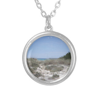 64-SOL16-182-3284 SILVER PLATED NECKLACE
