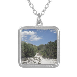 64-SOL16-185-3288 SILVER PLATED NECKLACE