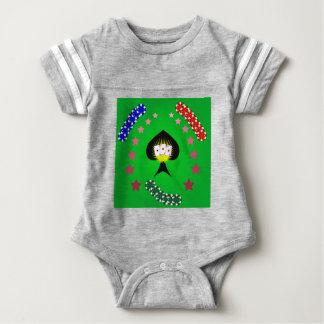 64Casino Logo_rasterized Baby Bodysuit
