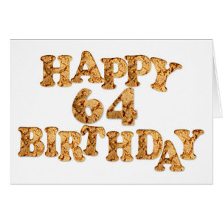 64th Birthday card for a cookie lover