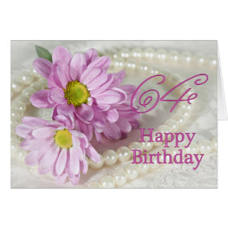 64th Birthday card with daisies