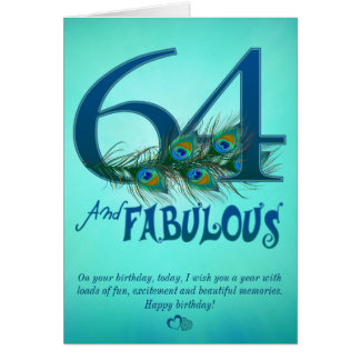 64th Birthday template Cards
