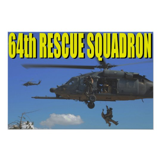 64th Rescue Squadron Poster