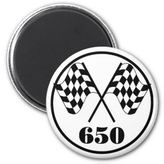 650 Checkered Flags Magnet