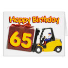 65 birthday card with a fork lift truck