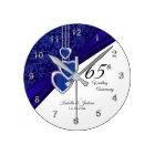 65th / 45th Sapphire Wedding Anniversary Keepsake Round Clock