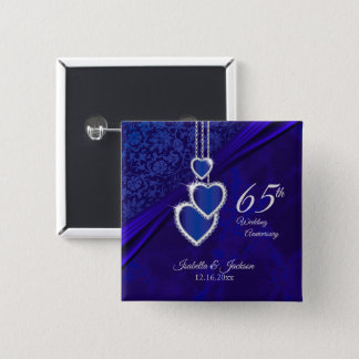 65th / 45th Wedding Anniversary Design 2 2 Inch Square Button