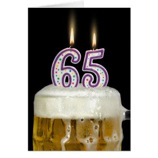 65th Birthday Beer Card