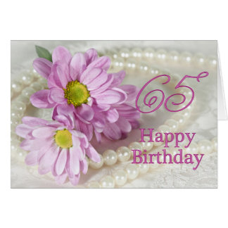 65th Birthday card with daisies