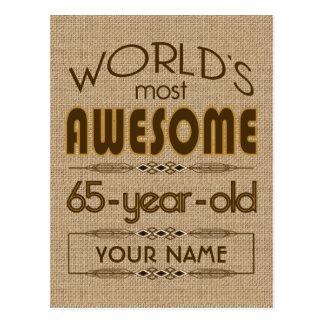 65th Birthday Celebration World Best Fabulous Postcard