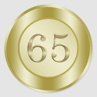 65th Birthday Classic Round Sticker