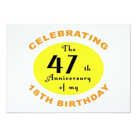 65th Birthday Gag Gift Card