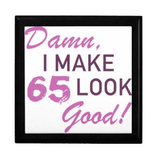 65th Birthday Humor Jewelry Boxes