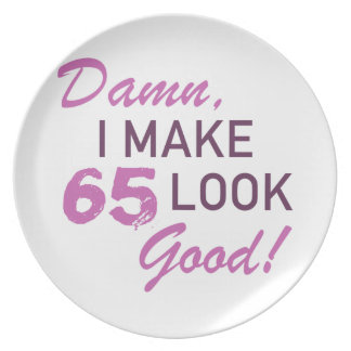 65th Birthday Humor Party Plates