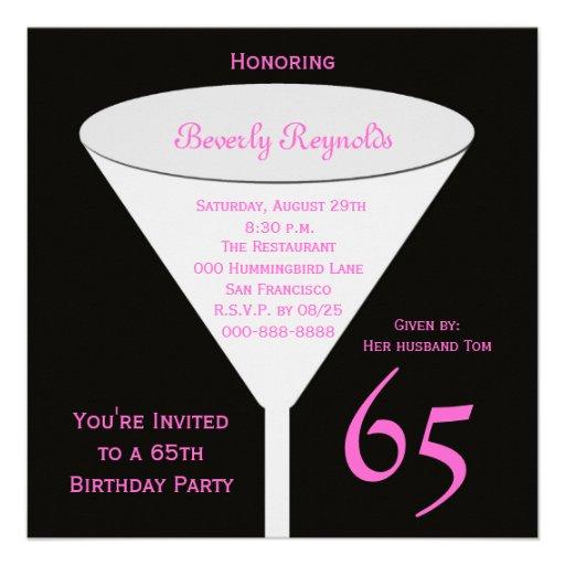 65th Birthday Party Invitation -- 65th Toast