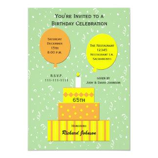 65th Birthday Party Invitation Fun 65th Cake