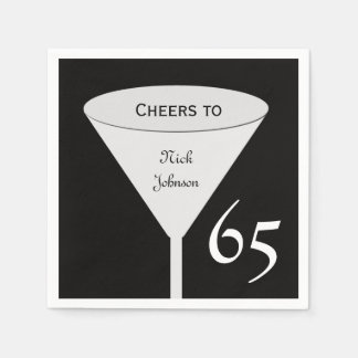 65th Birthday Party Paper Napkins