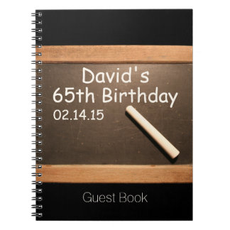 65th Birthday Party Personalized Guest Book
