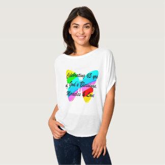 65TH BIRTHDAY RAIN BUTTERFLY DESIGN T-Shirt