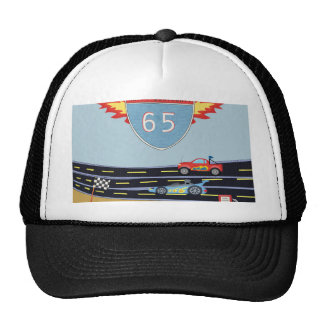 65th Birthday Stock Car Racing Theme Trucker Hat