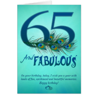 65th Birthday template Cards