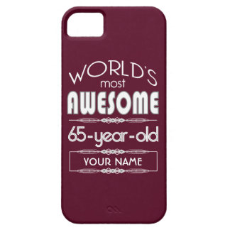 65th Birthday Worlds Best Fabulous Dark Red iPhone 5/5S Cases