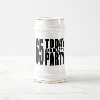 65th Birthdays Parties : 65 Today & Ready to Party Mugs